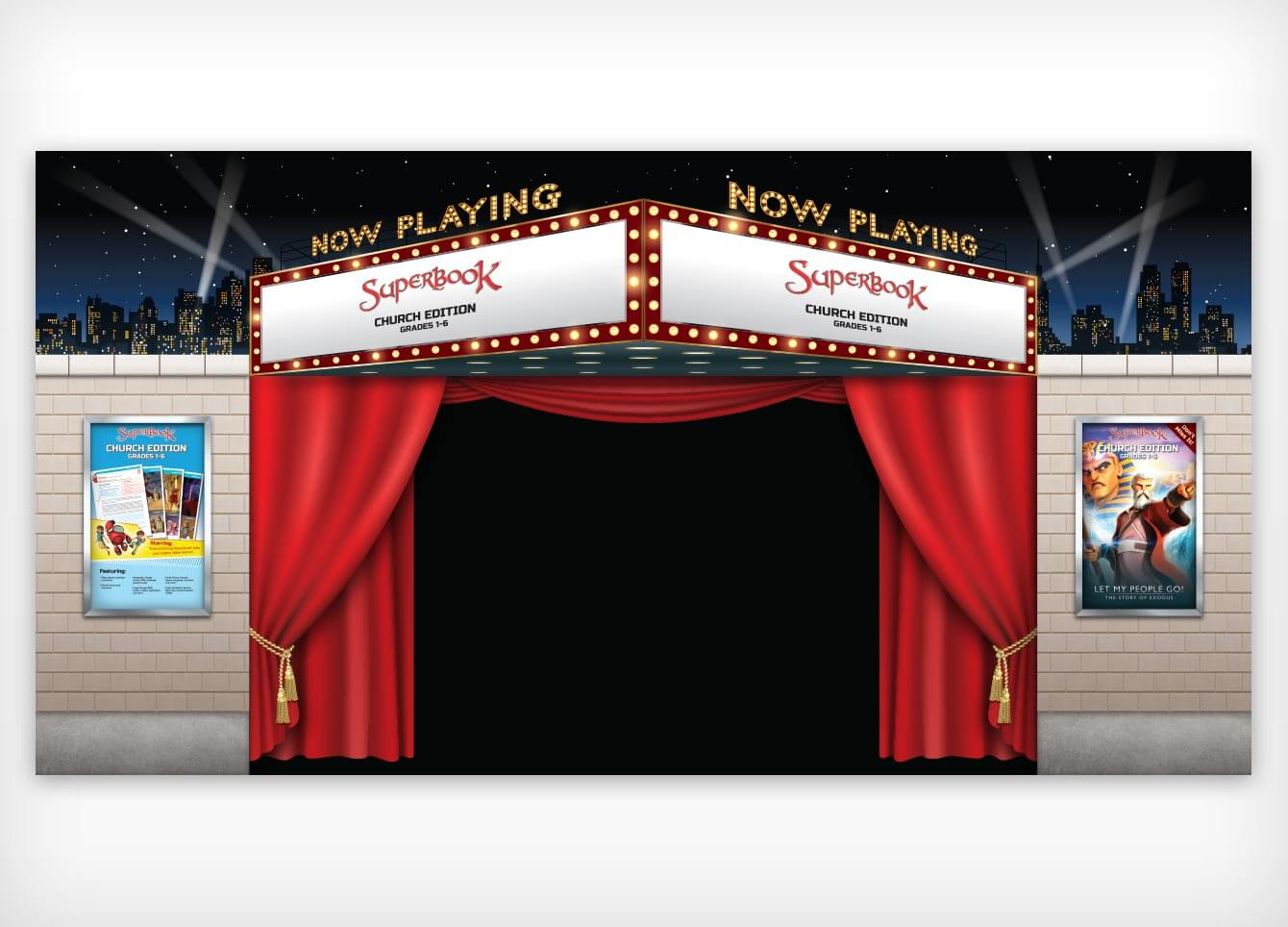 Superbook®: Church Edition – 20′ x 10′ Booth Front Design